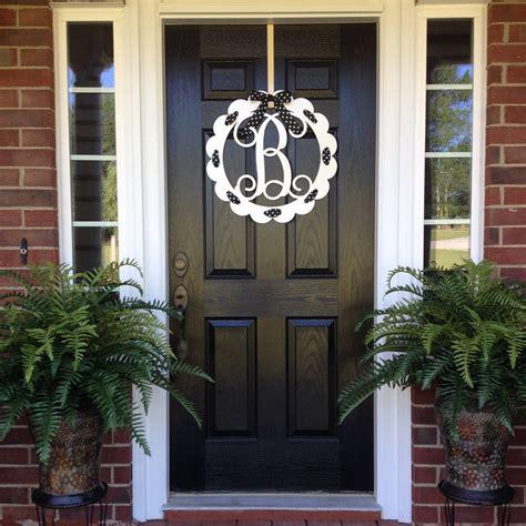 Front Door Initials Monogram Door Wreath Front Door Monogram Front Door Wreaths Monogram Wreath Initial Wreath