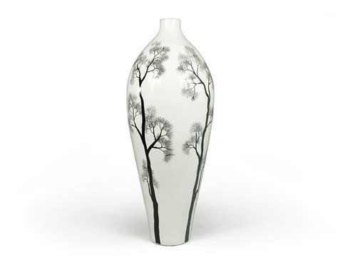 Black And White Floor Vase Floor Vases White Seni Floor Vase