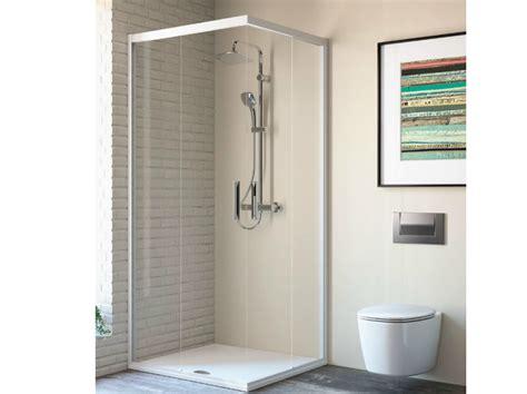 cabine doccia ideal standard box doccia angolare in vetro temperato con porte