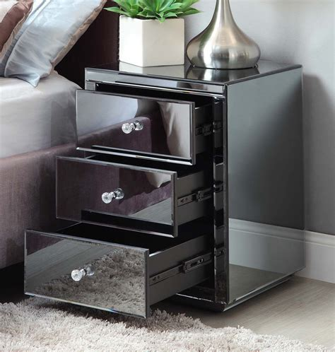 Mirrored Bedroom Furniture For Sale by Vegas Smoke Mirrored Bedside Table Chest Mirror