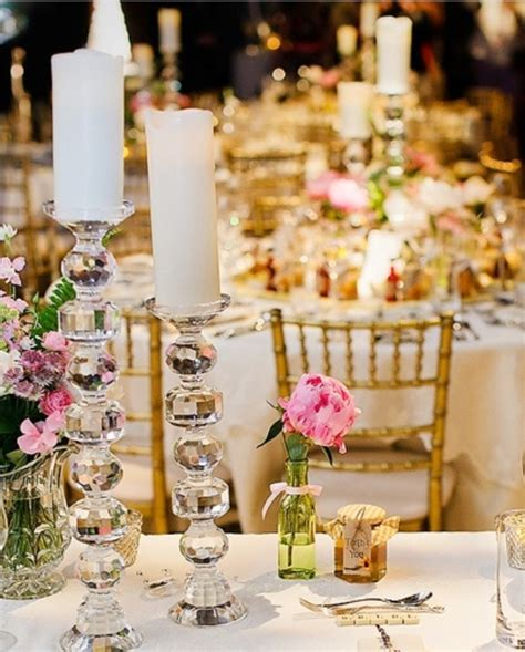 candles for centerpieces for wedding receptions candle decorations archives weddings romantique