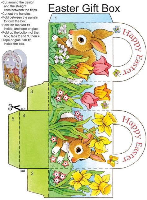 easter box templates free best 20 easter gift ideas on