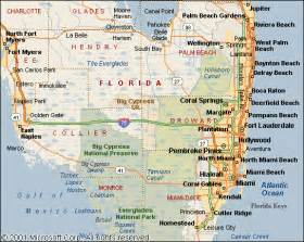 map of south florida and where we practice probate probate attorney south