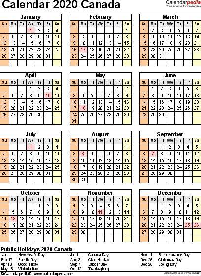 calendar word printable year calendar