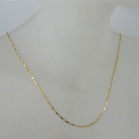 Gold Necklace, Gold Bracelet , Gold Anklet Chain, Vermeil Sterling Silver Chain Necklace   Small