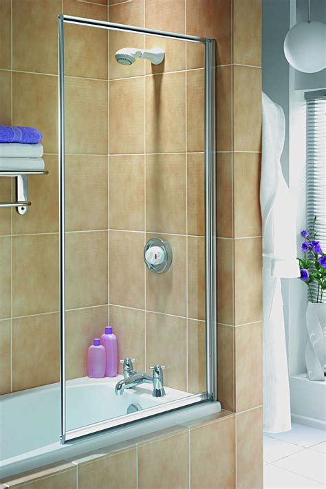 shower screens for baths aqualux white aqua 3 750mm clear glass fully framed bath