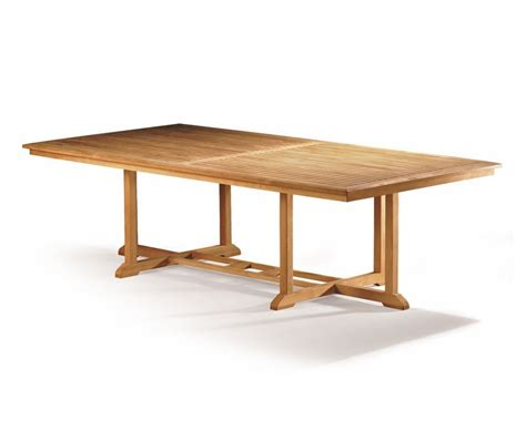 hilgrove large teak rectangular outdoor table 2 6m