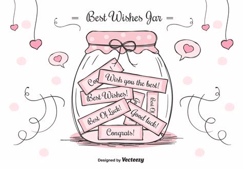 best wishes in best wishes jar free vector stock