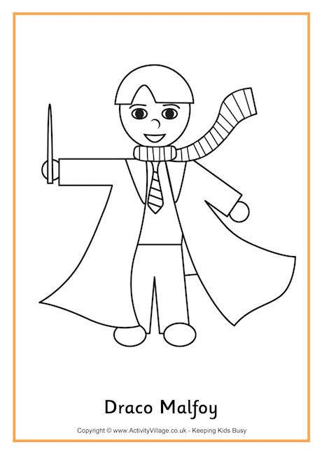 harry potter coloring pages draco draco malfoy colouring page