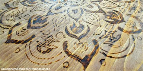 Stool Burning by Diy Stool With Wood Burned Design Remodelaholic Bloglovin