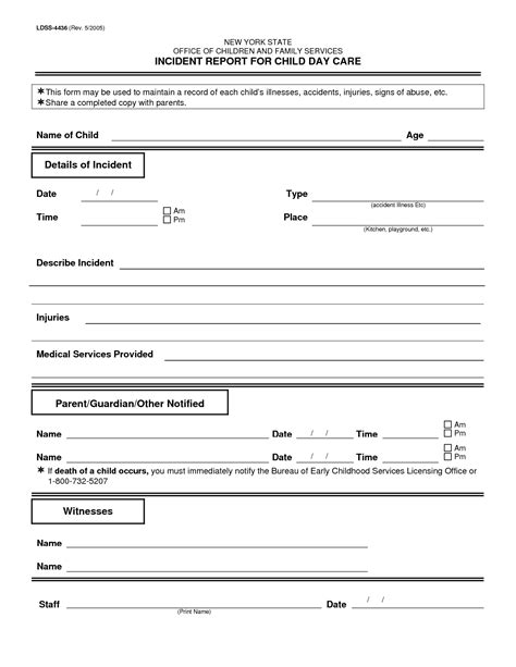 Incident Report Exle Childcare best photos of incident report template pdf sle incident report template sle incident