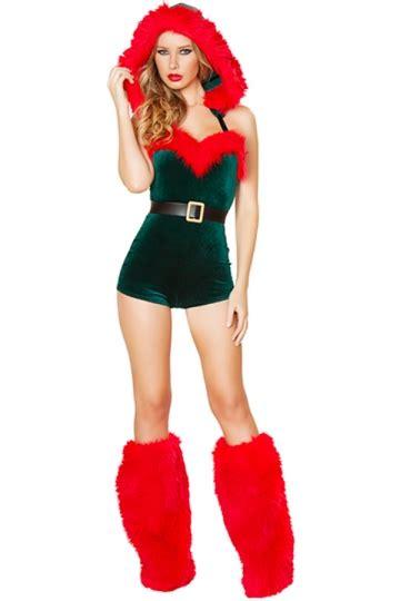 Penghapus Santa Set green dress santa helper costume