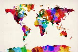 Abstract World Map by World Map Painting Bing Images