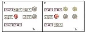 money coins amp bills worksheet sample