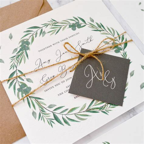 eucalyptus wedding invitation by amanda design stationery notonthehighstreet