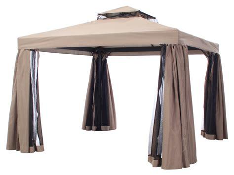 gazebo 4x6 milaan 3x4 taupe paviljoens parasols