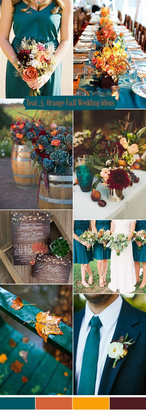 orange wedding colors ten prettiest shades of blue for 2017 wedding color ideas