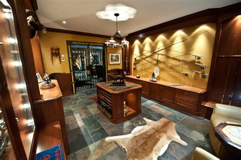 gun room traditional basement toronto  cambridge