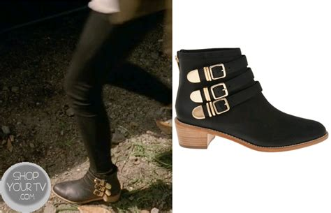 From Ad To Elux Lv Shoe Horror by Black Booties With Gold Buckle Images