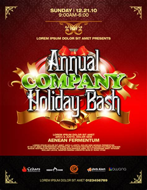 design holiday flyer holiday party flyer template flyer design contest