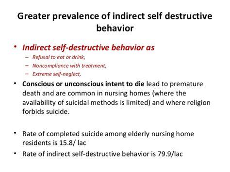 11 Self Destructive Behaviors suicidal tendencies in late depression