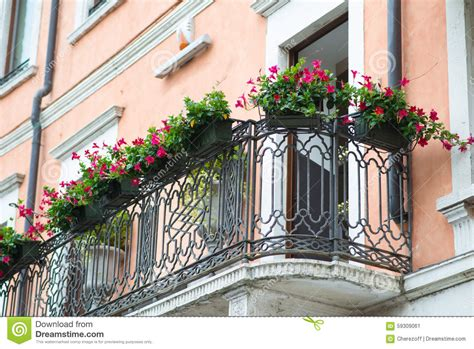 Balcony Sill Window Sill With Flowers Stock Photo Image 59309061