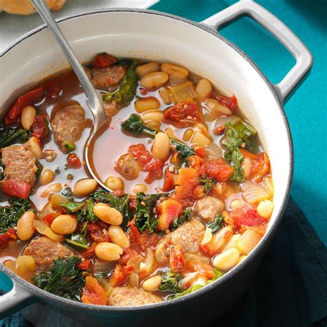 italian soup italian sausage kale soup recipe taste of home