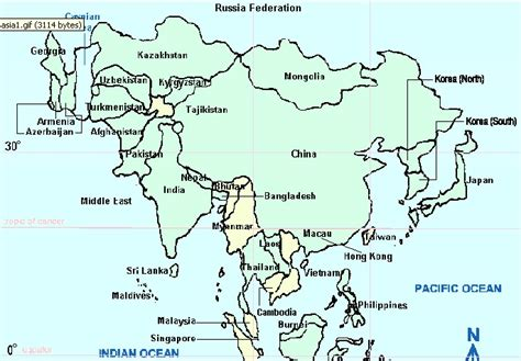 labelled map of asia map of asia countries labeled mexico map