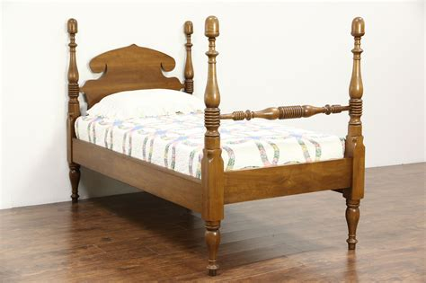 sold butternut  antique twin  single acorn poster bed harp gallery