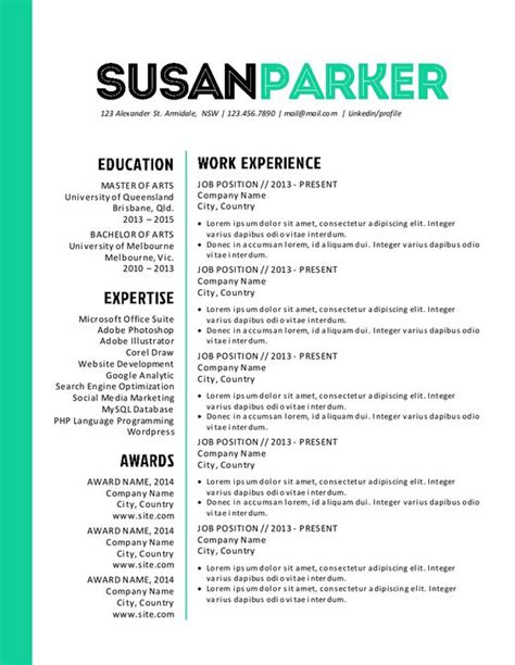 modern modern resume template and resume on