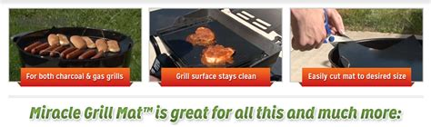 Miracle Grill Mat Safety by Miracle Grill Mat As Seen On Tv