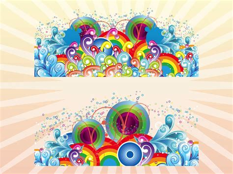 colorful designer colorful vector decorations