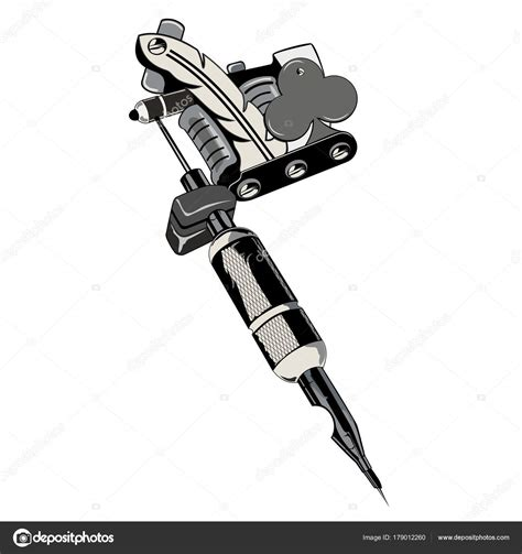 tattoo machine vector download tattoo machine symbol flower cards stock vector