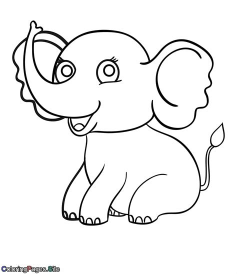 elephant love coloring page elephant coloring page