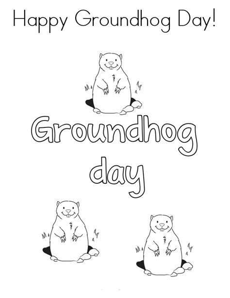 groundhog day viewing worksheet free printable groundhog day coloring pages
