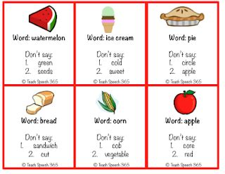 printable hedbanz cards teach speech 365 don t say it game a different