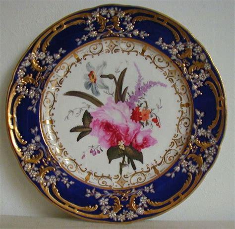 Porcelain Plate antique coalport porcelain plate painted by