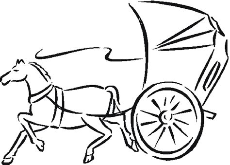 free coloring pages of horse and buggy