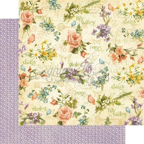 Gardening Paper Graphic 45 Secret Garden Collection 12 X 12