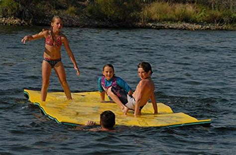 floating water pads mat by aqua products floating foam pad designed for water recreation and relaxing