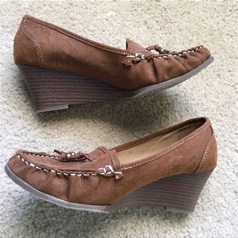 merona loafers 67 merona shoes brown merona loafer suede wedges