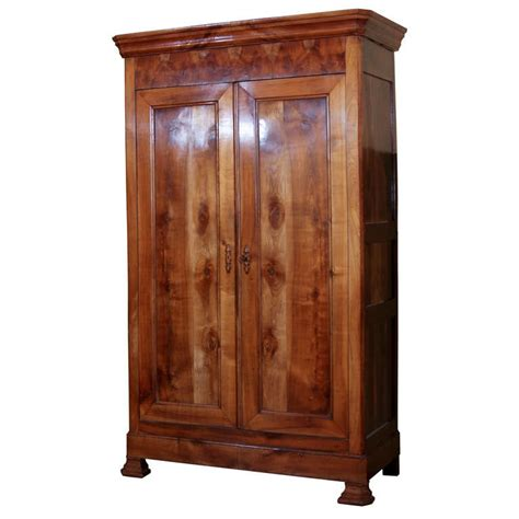 french style armoire french louis philippe style cherry armoire at 1stdibs