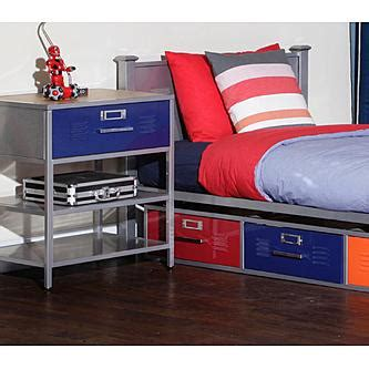 Locker Bedroom Set by American Furniture Alliance Locker Bed With 3 Drawers
