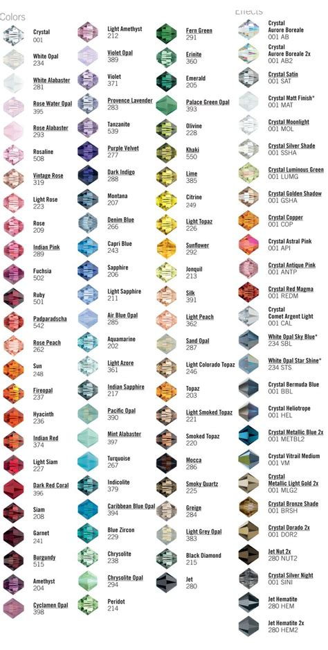 unique colors names 25 unique crystal beads ideas on pinterest swarovski crystal beads beaded jewelry and