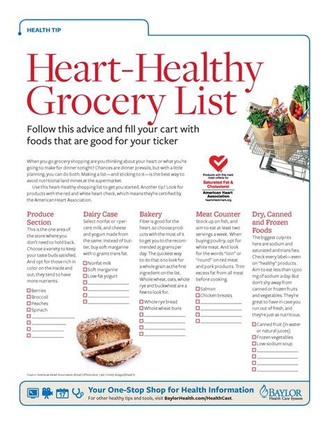 Printable Heart Healthy Recipes | printable heart healthy food list myideasbedroom com