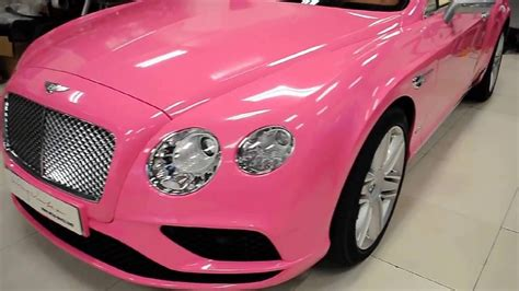 pink bentley convertible gloss pink bentley continental gt convertible by wrap