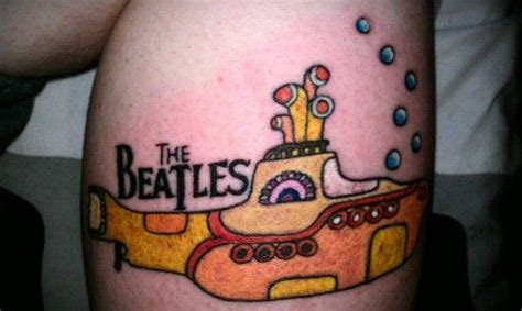 yellow submarine tattoo let it be the best beatles tattoos this side of road