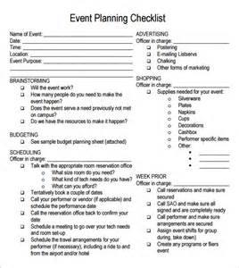 event organisation template event planning checklist 7 free for pdf