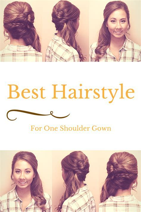 How To Wear Hair With A One Shoulder Gown?   Updos