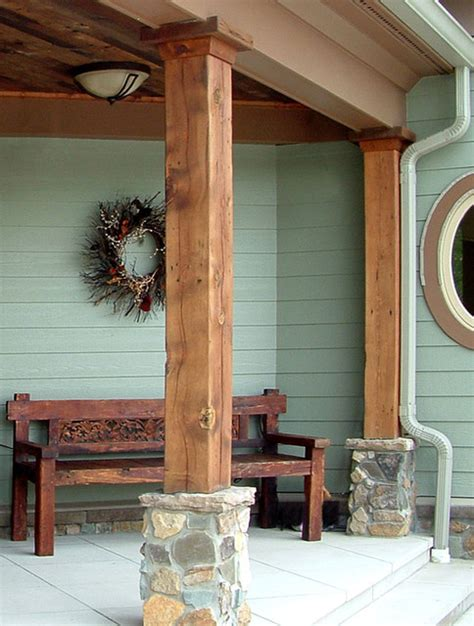 antique reclaimed barn beams traditional exterior